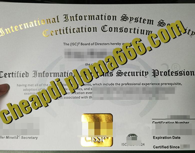 fake CISSP certificate