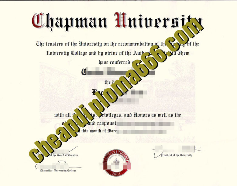 fake Chapman University degree certificate