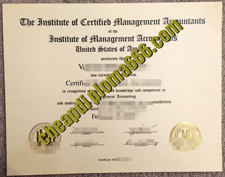 buy Certified Management Accountant degree