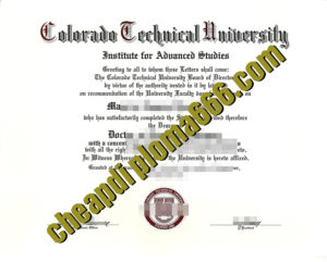 Colorado Technical University diploma