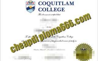 buy Coquitlam College degree certificate