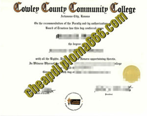 Cowley County Community College fake certificate
