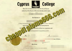 Cyprus College certificate