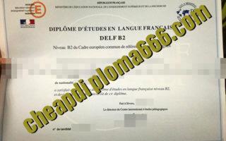 fake DELF degree certificate