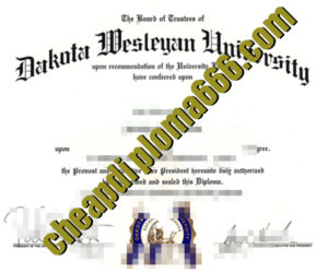 buy Dakota Wesleyan University degree certificate