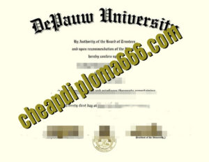 buy DePauw University degree certificate