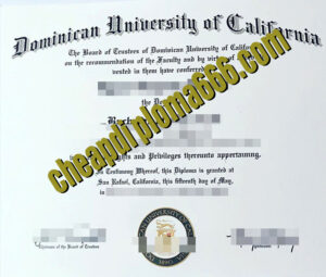 fake Dominican University of California degree certificate