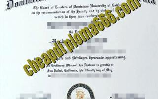 fake Dominican University of California degree certificate