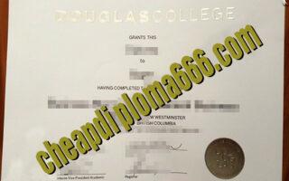 buy Douglas College degree certificate