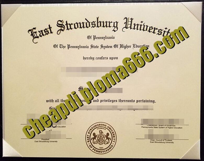 fake East Stroudsburg University of Pennsylvania degree certificate