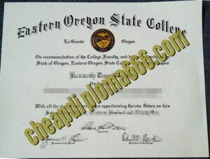 Eastern Oregon state College degree