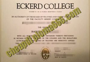 buy Eckerd College degree certificate