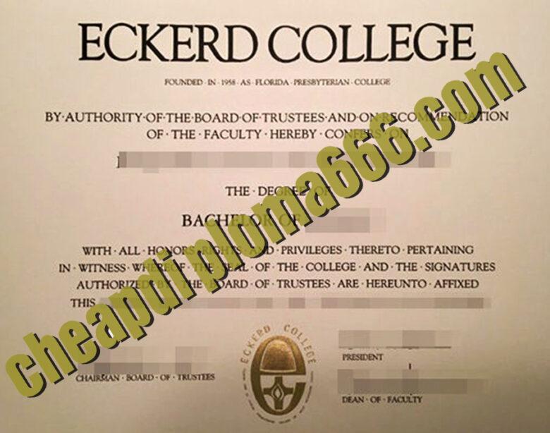 buy Eckerd College degree certificate