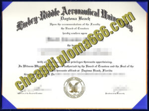 fake Embry–Riddle Aeronautical University degree certificate