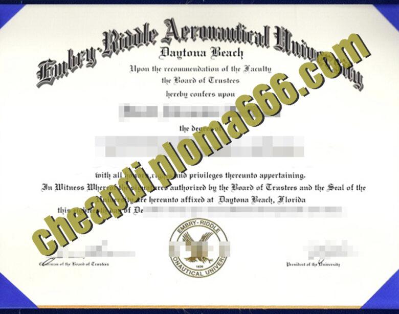 fake Embry–Riddle Aeronautical University degree certificate