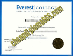 Everest College fake degree certificate