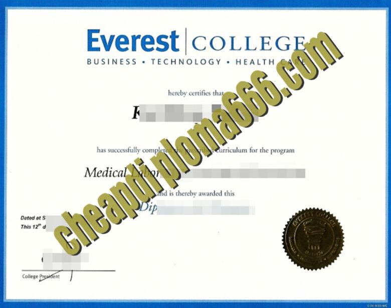 Everest College fake degree certificate