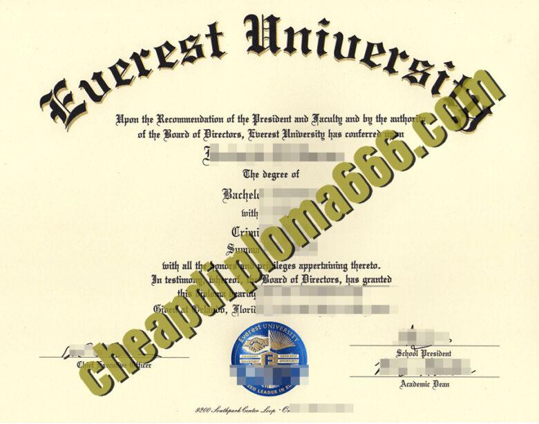 buy Everest University degree certificate