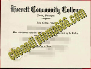 buy Everett Community College degree certificate