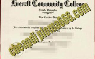 buy Everett Community College degree certificate