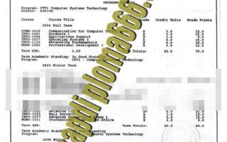fake Fanshawe College transcript
