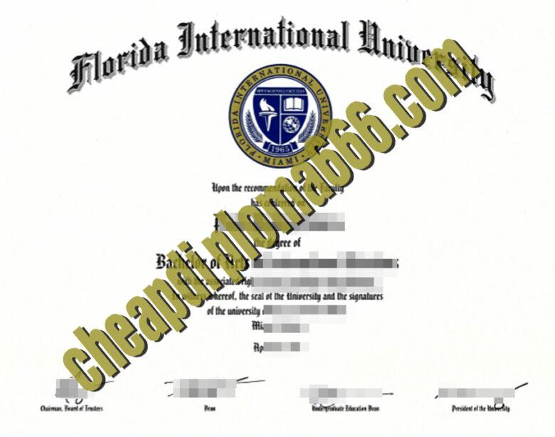 Florida International University fake degree certificate