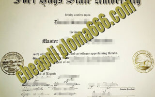 Fort Hays State University degree certificate