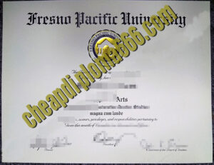 Fresno Pacific University degree certificate