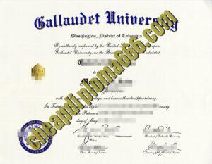 buy Gallaudet University degree certificate