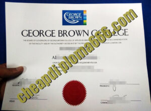 George Brown College degree certificate