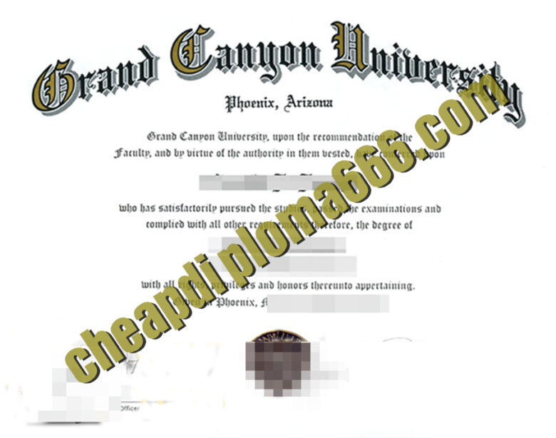buy Grant Canyon University diploma