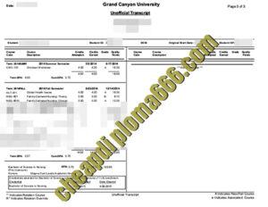 buy Grant Canyon University transcript