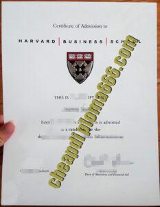 fake Harvard Business School degree certificate