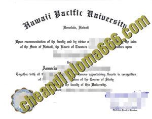 Hawaii Pacific University degree